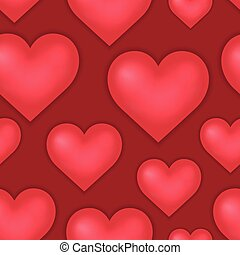 Heart theme seamless background 1