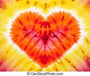 tie dye - Heart tie dye. Fabric background