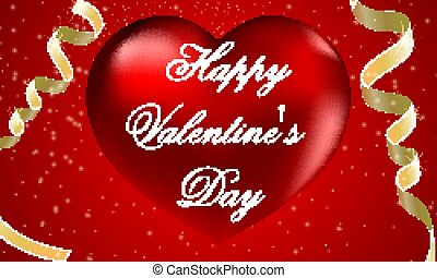 Heart to the day of saint valentine with serpentine