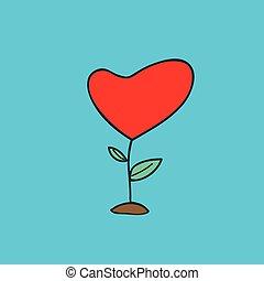 Heart tree abstract