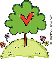 Heart tree love