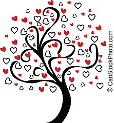 Heart Tree Vector Graphic