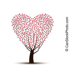 Heart - tree with leaves in the shape of heart