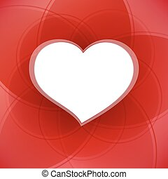 heart., valentine, tło, biały, dzień, czerwony