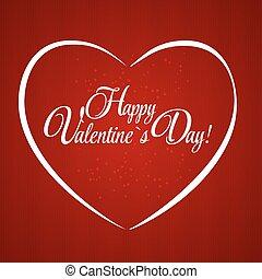 heart., valentines, иллюстрация, вектор, день, карта, счастливый