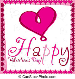 Heart Valentine's day card in vector format.