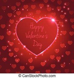 Heart valentine's day light