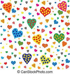 Heart Valentines seamless pattern
