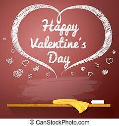 heart., valentines, text., clair, jour, forme, vecteur, endroit, tableau, message, vacances, ton, rouges, heureux