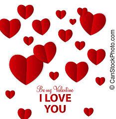 heart., valentinkort, illustration, vektor, dag, kort, lycklig