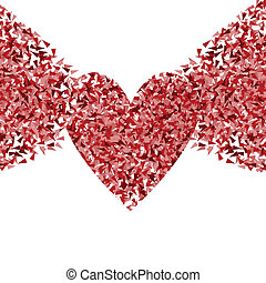 Heart vector background concept made of fragments