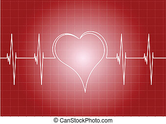 heart - Heart diagram with line heart.