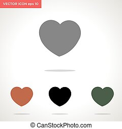 heart vector icon isolated on white background
