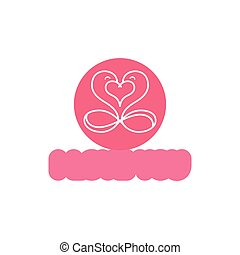 Heart vector logo design template. Infinity love concept for st. Valentine day icon.