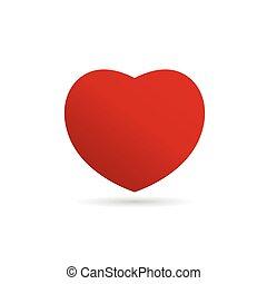 heart vector love in red