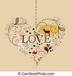 Heart - Vintage heart shape
