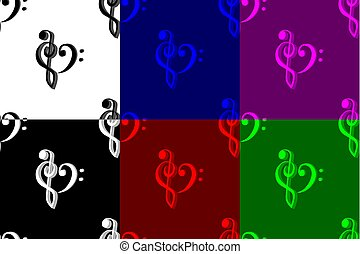 Heart - violin and bass clef