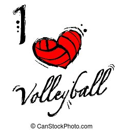 Heart volleyball background