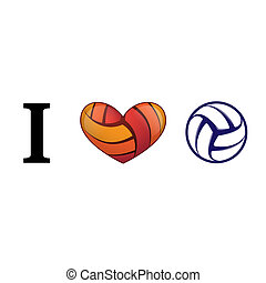 Heart volleyball love