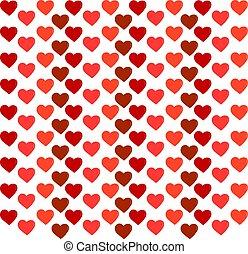 Heart wallpaper, illustration, vector on white background.