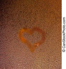 Heart water drops texture