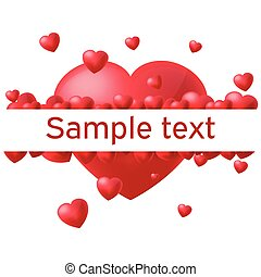 Heart White Background Border Text Vector