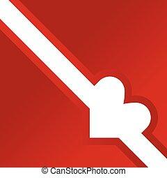 heart white illustration on red