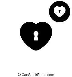 heart  - white vector icon