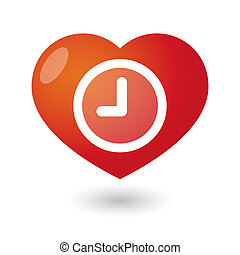 Heart with a clock