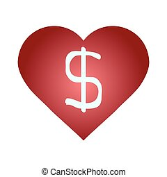 heart with a dollar sign symbol