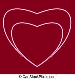 Heart with a heart inside.