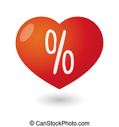 Heart with a percentage sign