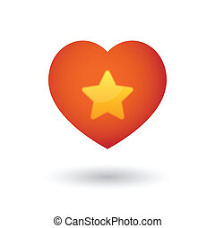Heart with a star