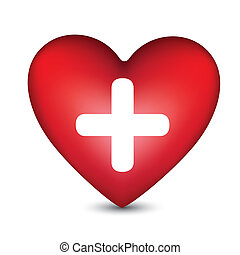heart with a white cross