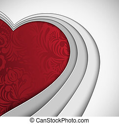Heart with an ornament