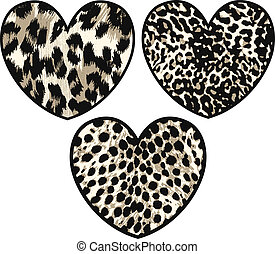 heart with animal skin