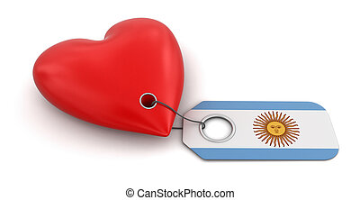 Heart with Argentina flag