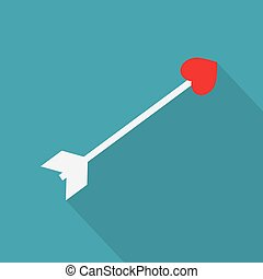 heart with arrow icon- vector illustration