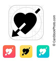 Heart with arrow icon.
