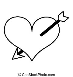 heart with arrow isolated icon