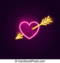 Heart with Arrow Neon Sign