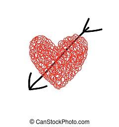 heart with arrow vector