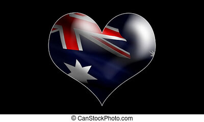 Heart with Australia flag looping b