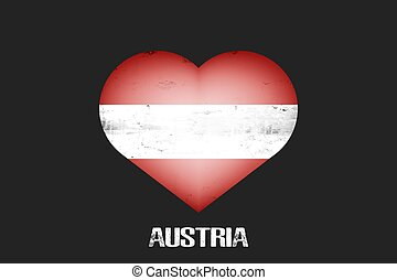 Flag of Austria in the form of a heart