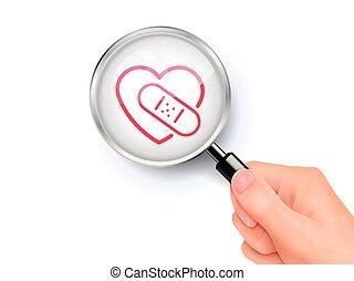 Heart with bandage icon