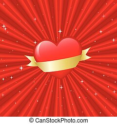 Heart with banner