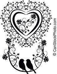 Heart With Birds And Flowers 2