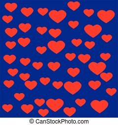 Heart with blue background