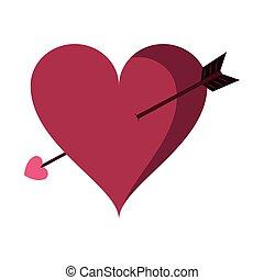 Heart with bow arrow