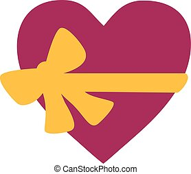 Heart with bow - gift for valentine's day